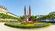canvas print picture - Wiesbaden, Luisenplatz mit Bonifatiuskirche. 30.05.2018.