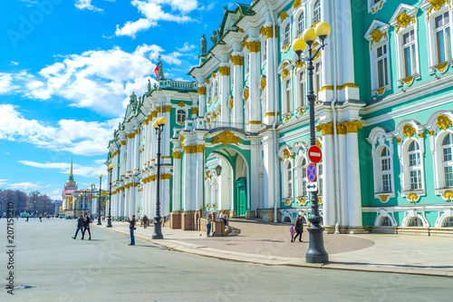 The frontage of Winter Palace in Saint Petersburg, Russia Wallpaper Mural