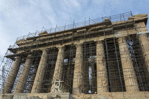 Plakat Grecja Ateny Akropol Partenon Rekonstrukcja 19 maja 2008 r