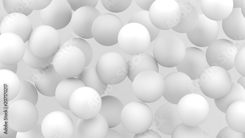 Fototapety, obrazy: 3d bubbles. Spheres background. Abstract wallpaper. Flying geometric shapes. Trendy modern illustration. 3d rendering. Falling abstract balls. Colorful poster backdrop. Minimal style.