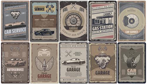Kolekcja broszur serwisowych samochodów zabytkowych