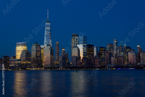 Foto op Aluminium New York New York Skyline at Blue Hour