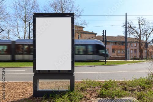 Blank advertisement mock up
