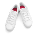 White Sneakers On White Backgr...