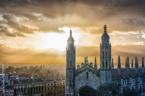 Canvas Print View of King's College, Cambridge University, Cambridge