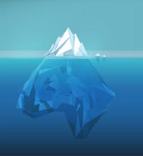 Iceberg Polygonal Illustration...