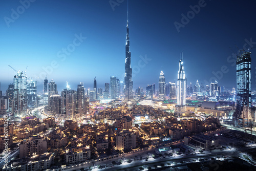 Dubai skyline, United Arab Emirates