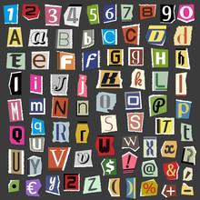 Vector Collage Alphabet Letter...