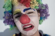 Sad Crying Girl Clown