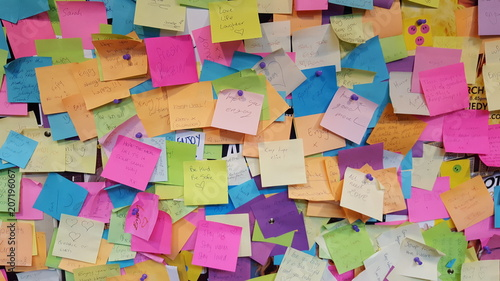 Post Its Bunt Chaos 1 Fototapete