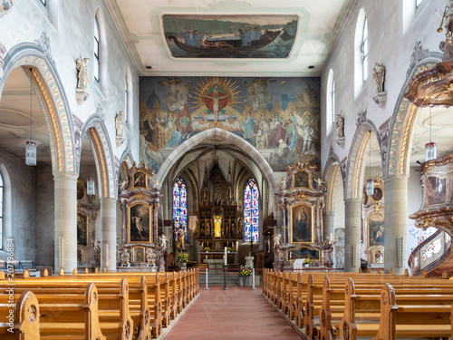 Wangen im Allgäu: Stadtpfarrkirche St. Martin Fototapeta