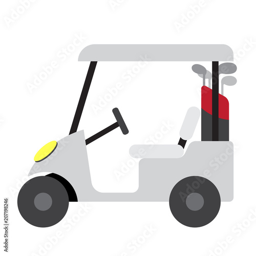 Golf Cart Transportation Cartoon Character Side View Isolated On White Background Vector Illustration Buy This Stock Vector And Explore Similar Vectors At Adobe Stock Adobe Stock