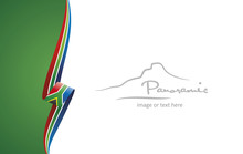 South Africa Abstract Flag Bro...