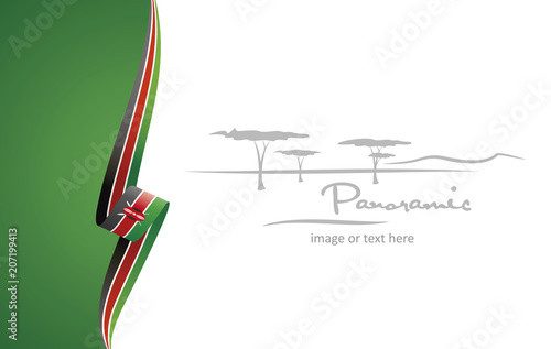 Kenya abstract flag brochure cover poster background vector Poster Mural XXL
