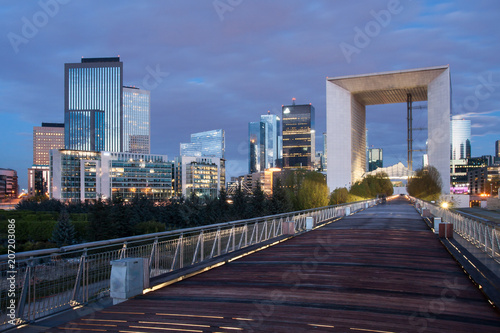 La Defense business district at night