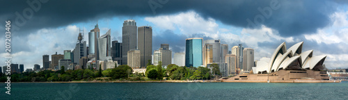 Tuinposter Sydney Dark cloud looming over Sydney