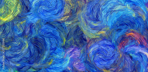 Abstract texture background. Digital design painting impressionism artwork. Hand drawn artistic pattern. Modern art. Good for printed pictures, postcards, posters or wallpapers and textile printing.