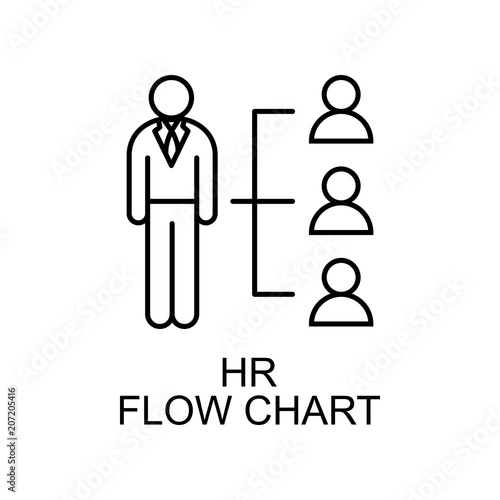 Hr Flow Chart Line Icon Element Of Human Resources Icon For Mobile