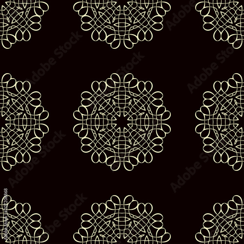 Cotton fabric Vintage seamless pattern