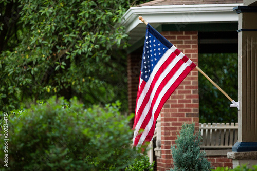 Fotografia  American Flag Fourth of July