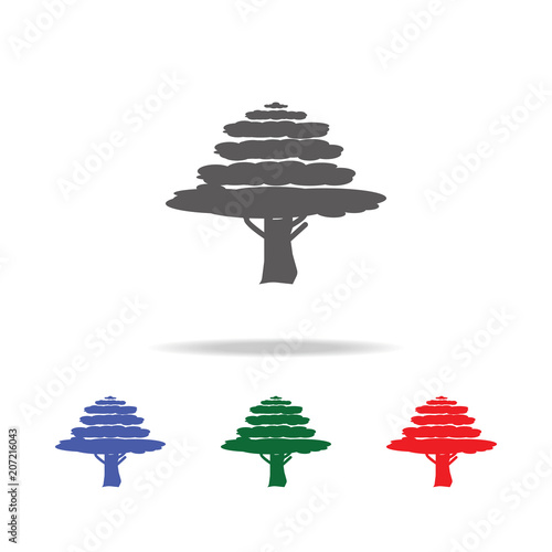 Cypress tree icon. Elements of trees in multi colored icons. Premium quality graphic design icon. Simple icon for websites, web design, mobile app, info graphics