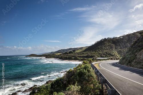 Printed kitchen splashbacks Coast The Great Ocean Road in Victoria, Australia is a one of he world's great coastal roads