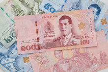 New Thai Baht On White Backgro...