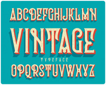 Vintage Extruded Typeface Cove...