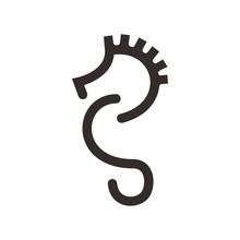 Seahorse Logo. Sea Animal Icon...