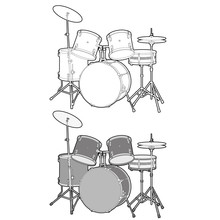 Drum Vector Design Illustratio...