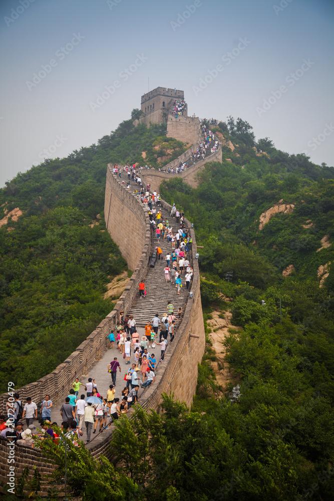 People climb the Great Wall of China, china, 2013