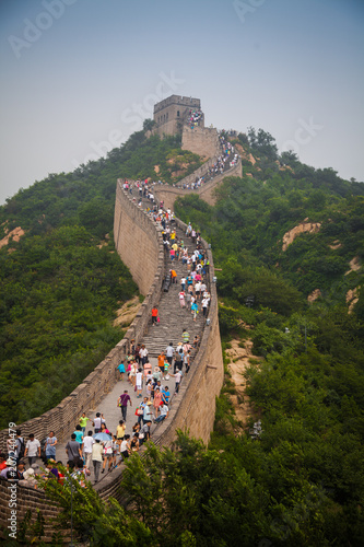 People climb the Great Wall of China, china, 2013