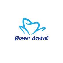 Flower Dental Logo Template