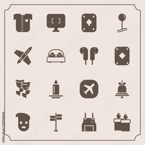 Modern, simple vector icon set with space, graphic, road