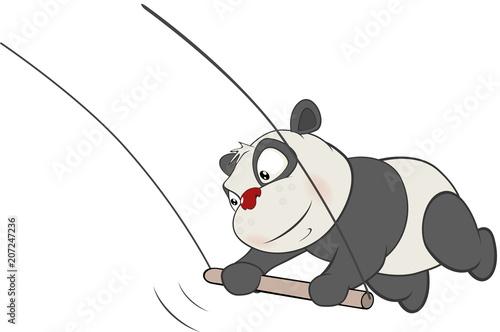 Poster Babykamer Illustration of a Cute Panda. Cartoon Character