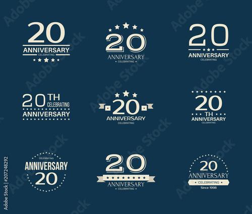 Fotografía  20 - year anniversary celebrating logotype