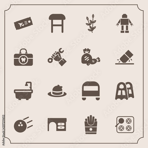 Surprising Modern Simple Vector Icon Set With Plant Ball Desk Gas Forskolin Free Trial Chair Design Images Forskolin Free Trialorg
