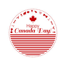 Concept Vector Illustration Greeting Card Of Happy Canada Day.