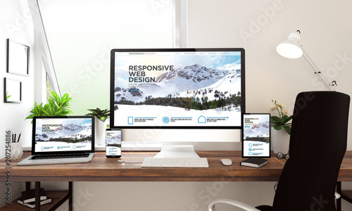 window office desktop devices responsive website Canvas Print