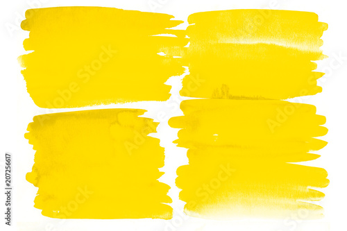 Valokuva  Yellow watercolor background