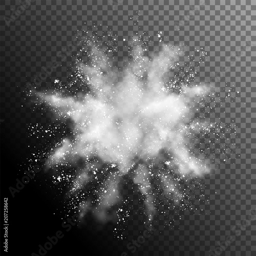 Explosion of White Powder Canvas-taulu