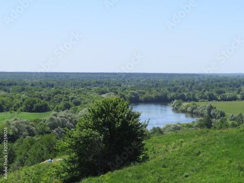 Fotobehang Blauwe hemel Landscape. Bryansk district. (The Vast Russia! Sergey, Bryansk.)