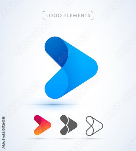 Cuadros en Lienzo Arrow logo template