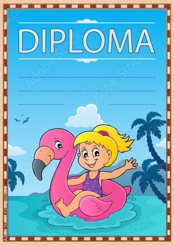 Deurstickers Voor kinderen Diploma template image 3