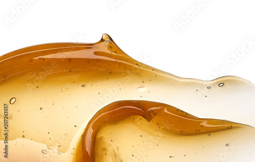 Golden smears of face cream or honey Poster