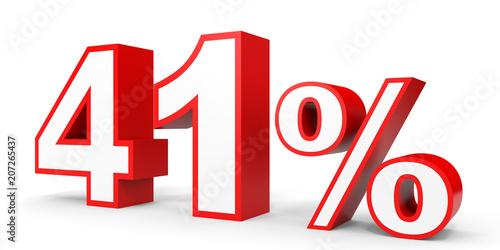 Fotografia  Forty one percent off. Discount 41 %.