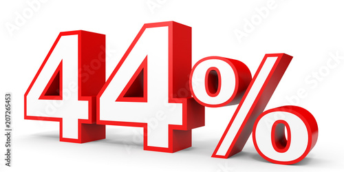 Photo  Forty four percent off. Discount 44 %.
