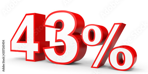 Photo  Forty three percent off. Discount 43 %.