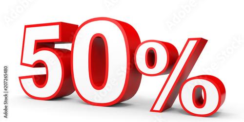 Fifty percent off. Discount 50 %. Canvas Print