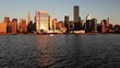 Skyline of Midtown Manhattan seen from the East River showing the Chrysler Building and the United Nations building, New York, United States of America